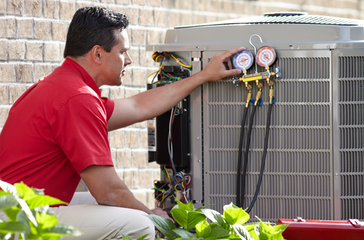 air conditioning repair service call