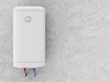 image of an electric automatic water heater installation